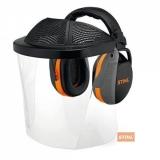 Наушники с защитой глаз Stihl с пластиковым щитком - фото