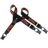 Подтяжки Stihl чёрные с оранжевым 130 см - фото